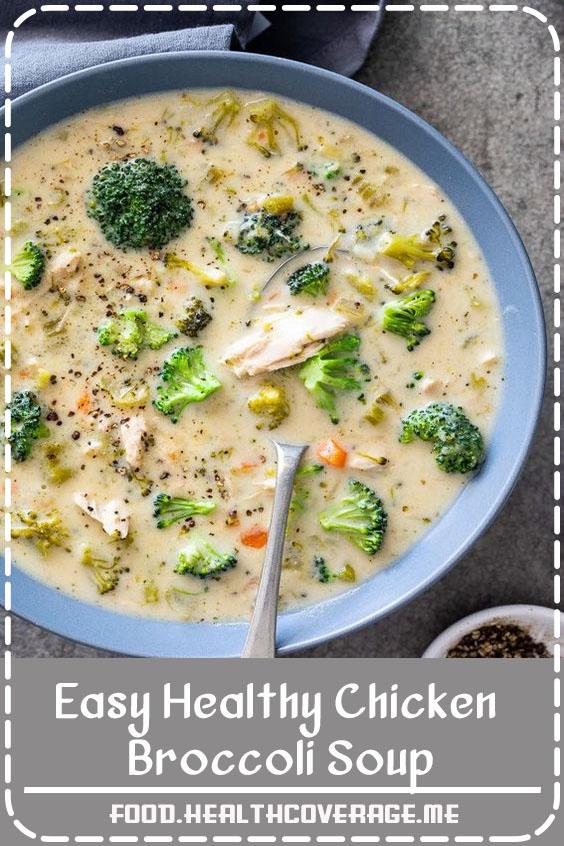 Easy healthy chicken broccoli soup