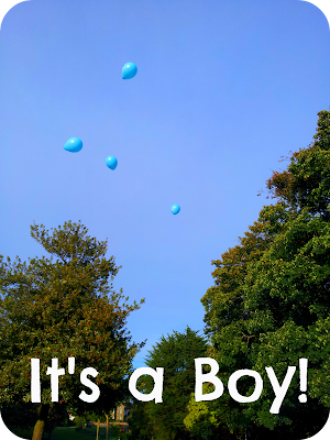 revealing gender with balloons, creative way to announce sex of baby