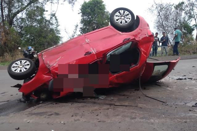 Acidente com vítimas fatais na estrada entre Nova Tebas e Pitanga