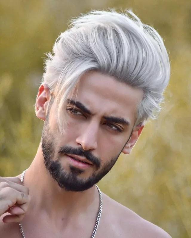 White toner Hair colour.