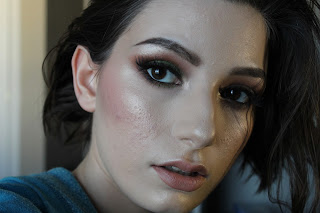 glowy skin smokey eye false eyelashes dramatic makeup