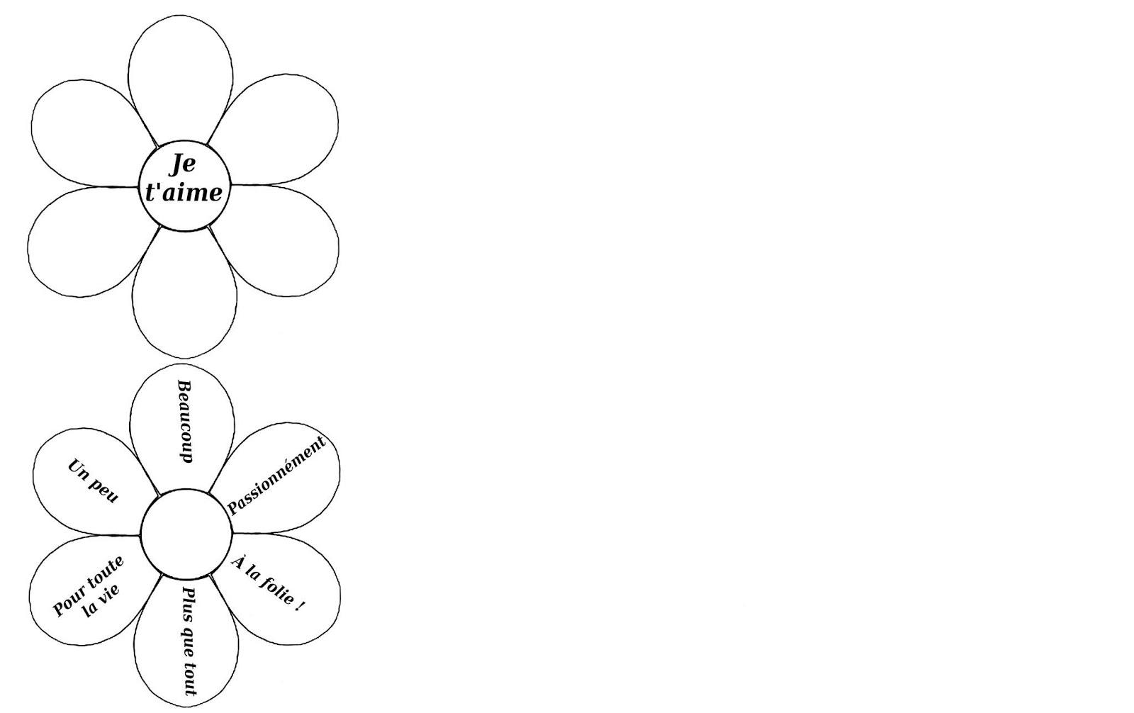 Bricolage cadeau une jolie carte fleur effeuiller la - Fleur a colorier et a decouper ...