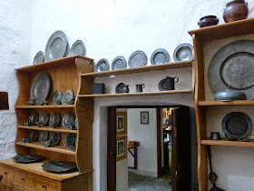 The old family pewter in the Kitchen, Cotehele