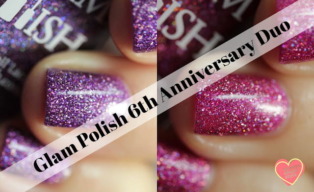 Glam Polish 6th Anniversary Duo for Black Friday swatch by Streets Ahead Style