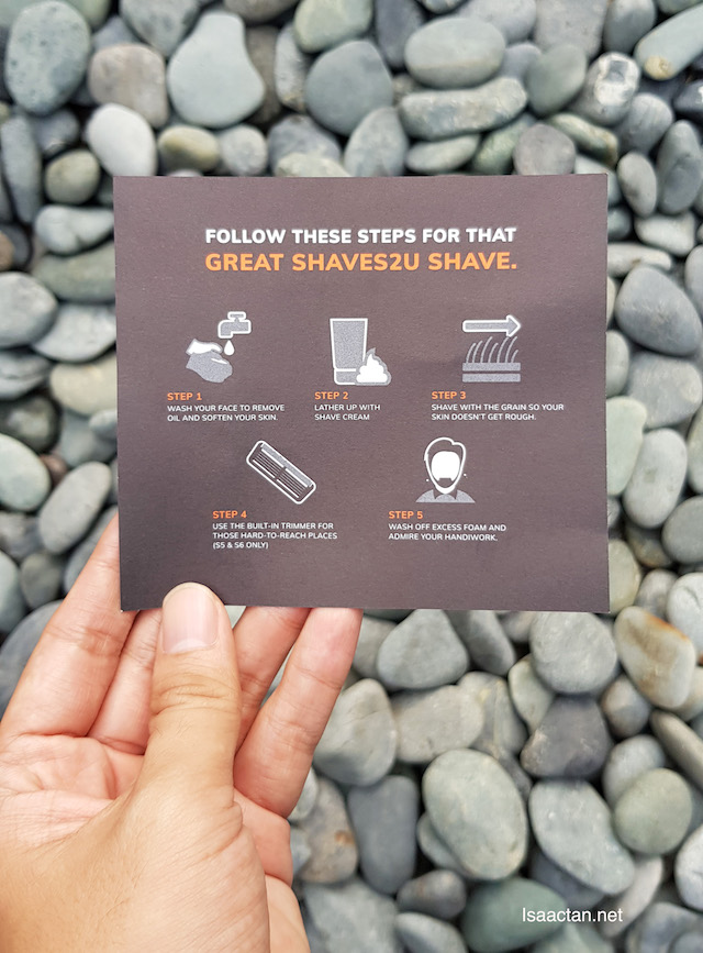 Follow these steps for a great shave!
