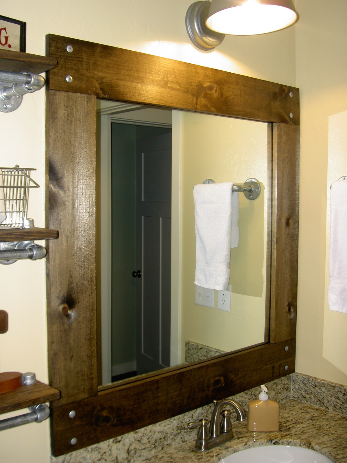 chapman place: framed bathroom mirror