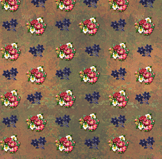 Digital Flower Pattern 02401