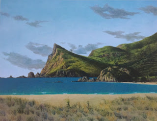 Print of Great Barrier Island by Justin Summerton
