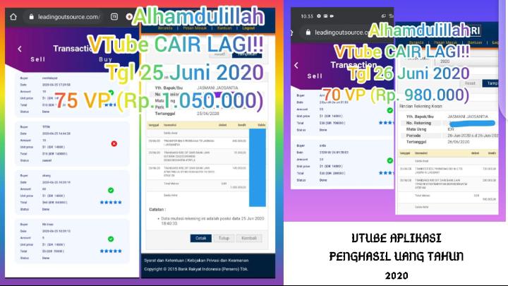 Vtube Aplikasi Penghasil Uang Di Ponsel HP Android Terbaru 2020, Aplikasi VTube Nonton Video Dibayar Dolar, Berikut Cara Download, Install, Registrasi Aplikasi V-Tube