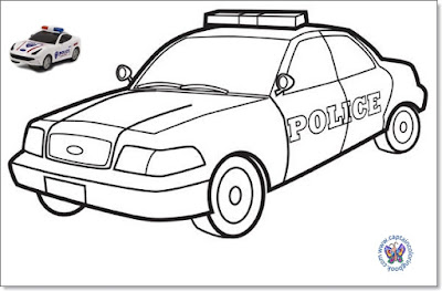 Kids  for Police Car Coloring