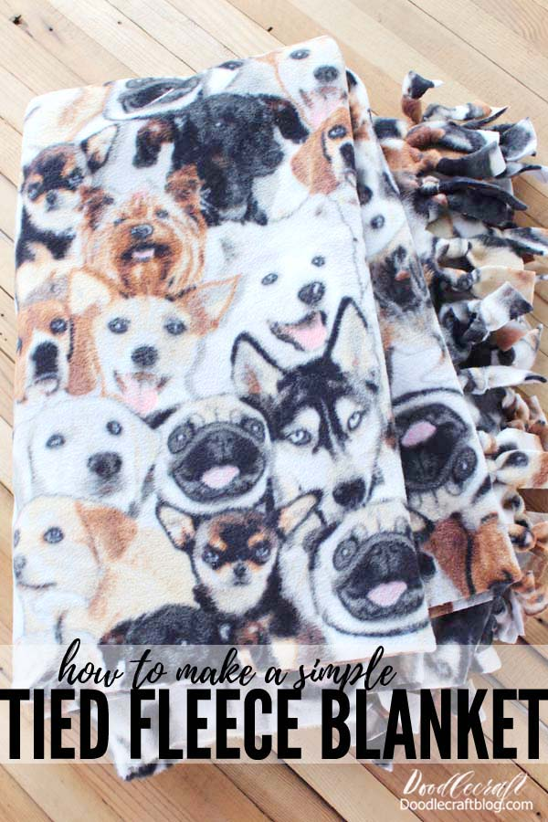 How to make a simple tied fleece blanket for the perfect gift, service project or Winter craft.