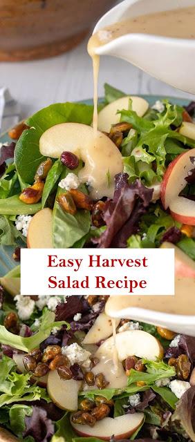 Easy Harvest Salad Recipe >>#saladrecipes #vegetarianrecipes #harvestsalad