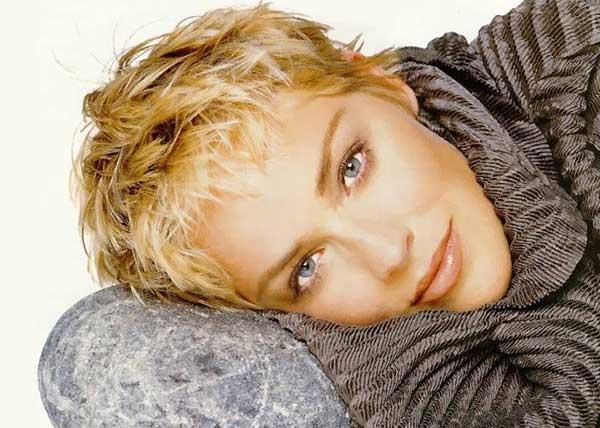 Sharon Stone Pixie Haircut
