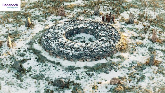 Digital reconstruction of Alvie Ring Cairn, Badenoch by Bob Marshall