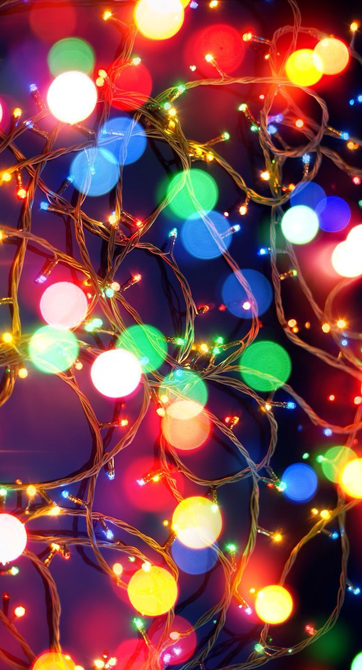 Christmas Lights HD Wallpaper for iPhone