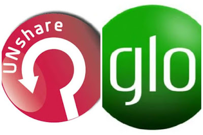 how to unshare data on glo network