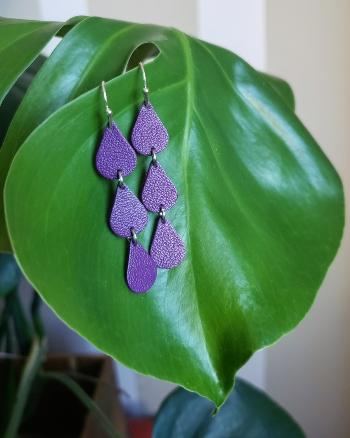 earrings, leather earrings, accessories, dangles, dew drop earrings