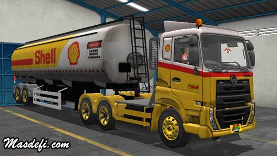 livery truck ud quester trailer tangki shell