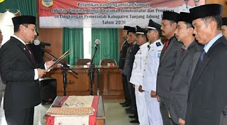 55 Pejabat Eselon Pemkab Tanjabtim Dilantik, Ini Nama-Namanya