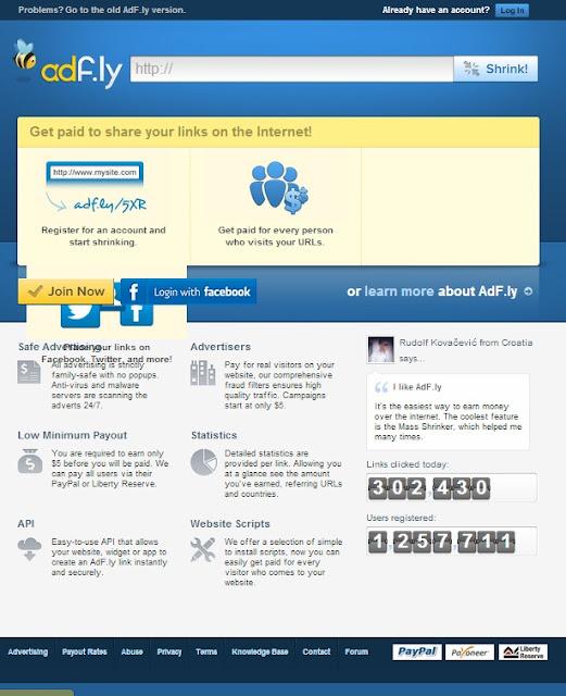 Cara Mendapatkan Uang Dengan Shrink URL Dari adf.ly | ReddSoft