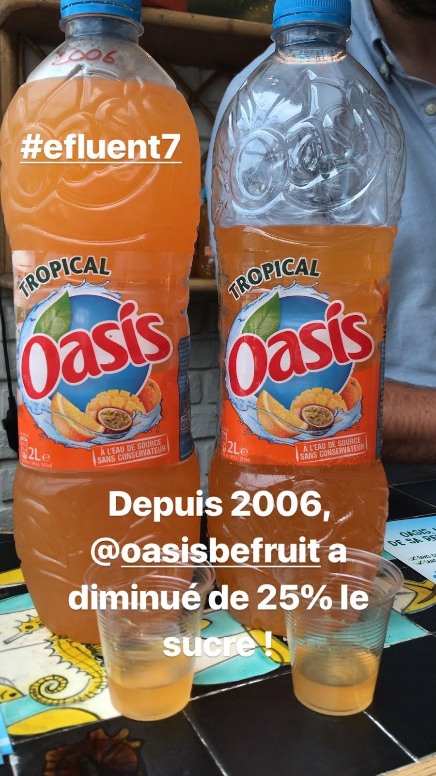boisson avec moins de sucre