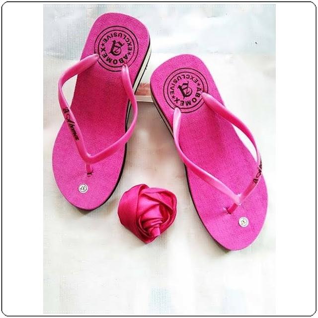 Sandal Wedges Polos Wanita
