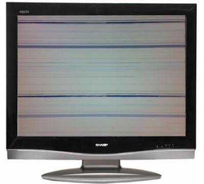 Hình 34 - Khi màn hình bị mất tín hiệu điều khiển Hs từ mạch SCALER sang mạch