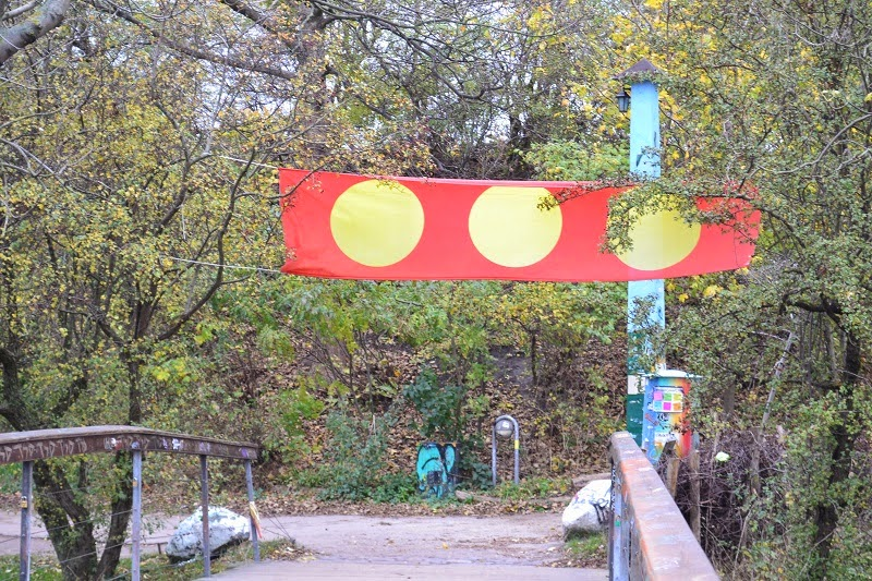 Christiania flag, Copenhague, ville libre, Danemark, travelsandme