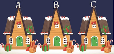 Figure: Can you see which Christmas house is different?