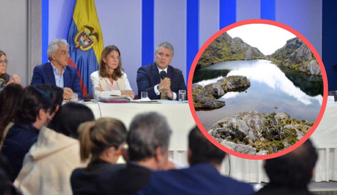 Ambientalistas se levantan de la mesa de diálogo con Duque quien no mostró interés en el tema del páramo de Santurbán