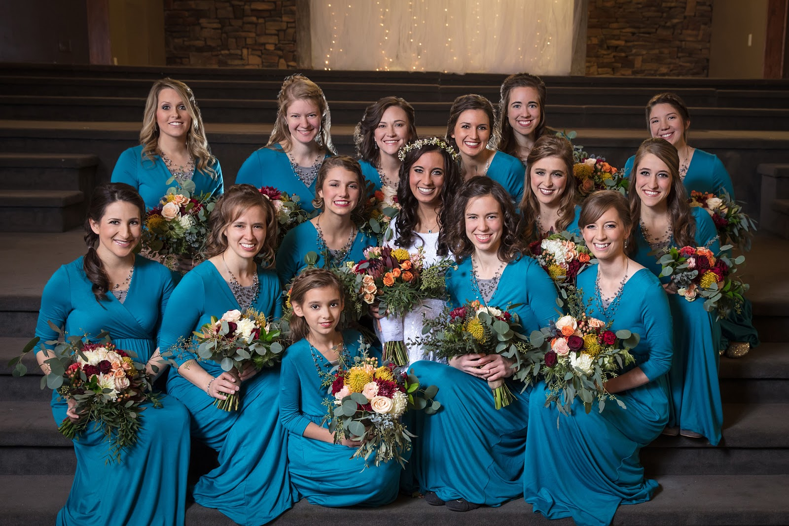 Its a beautiful life our wedding part three bridal party outfits at the end of the day the dress i chose for my bridesmaids was this beachcoco dress in teal blue i was a little worried about how it would look to have ombrellifo Choice Image