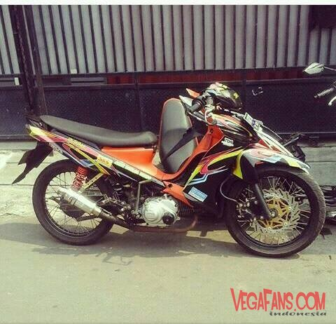 Vega ZR Modif Road Race Hitam