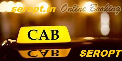 Showing Taxi Top with Seropt.in sign for Taxi or Cab booking through phone or computer