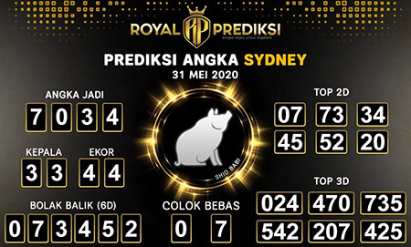Kode Syair Sydney Minggu 31 Mei 2020 - Royal Prediksi