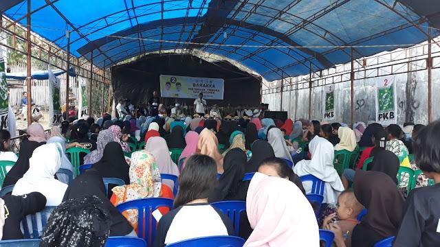 Luar Biasa! Ratusan Masyarakat di Kelurahan Cempalagi Berikrar Mewakafkan Diri Menangkan BARAKKA