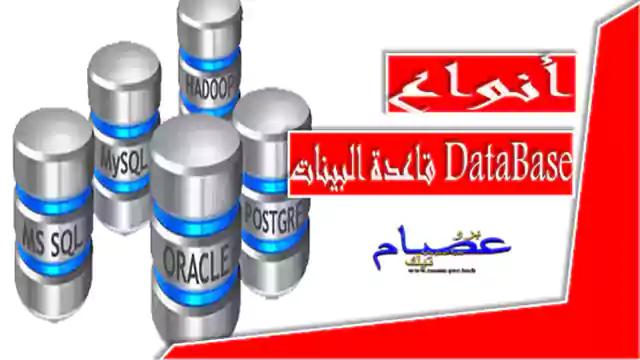 أنواع قاعدة البيانات DataBase