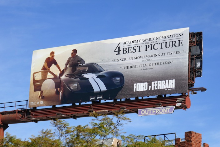 Ford v Ferrari Oscar nominee billboard