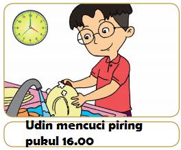 Udin mencuci piring pukul 16.00 www.simplenews.me