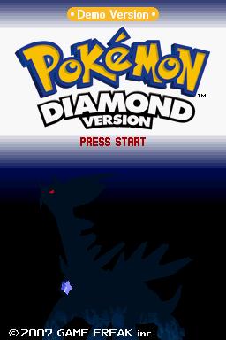 Blog Shadow Games: Download: Pokémon Diamond and Pearl Kiosk