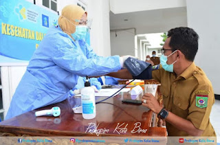 Tensi 110 per 70, Vaksin Perdana untuk Walikota Bima Urung Dilakukan Pagi Tadi