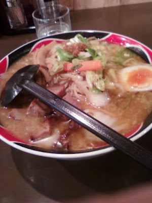 ramen with miso based soup