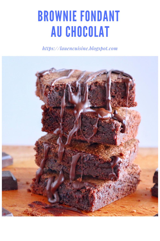 Brownie fondant facile rapide au chocolat