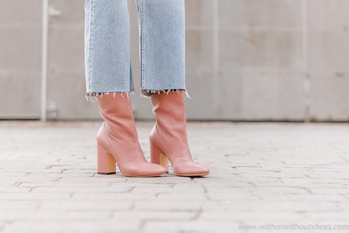 Blog adicta a losa zapatos Botines rosas / Pink Ankle Boots : modelo GEM en color rosa de AGL
