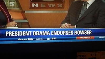 President Barack Hussein Obama Endorses King Bowser Koopa
