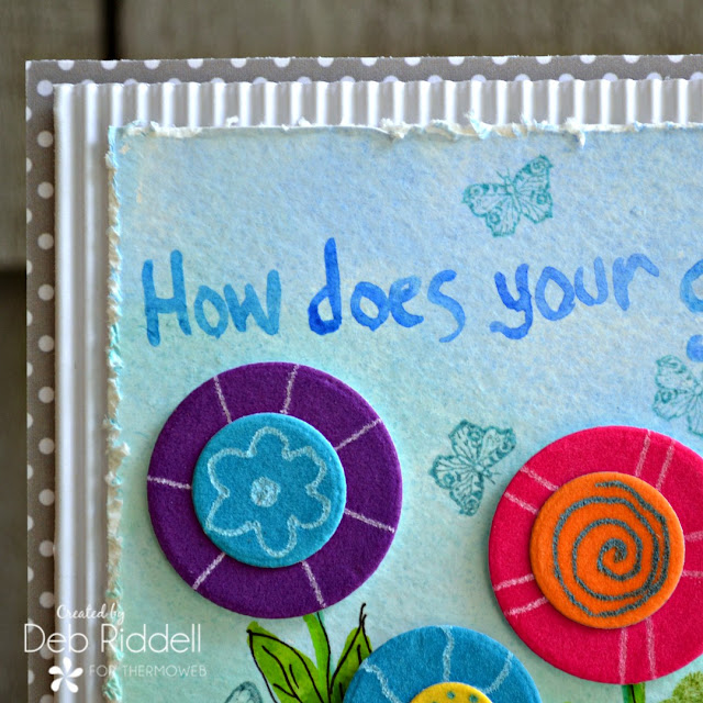 How Does Your Garden Grow Mixed Media Plaque Detail