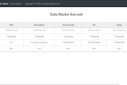 Aplikasi barcode generator dengan PHP, MySQL dan Bootstrap 4