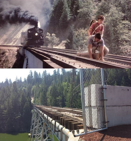 Image result for stand by me bridge scene