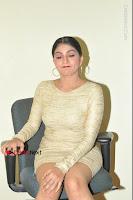 Actress Pooja Roshan Stills in Golden Short Dress at Box Movie Audio Launch  0057.JPG