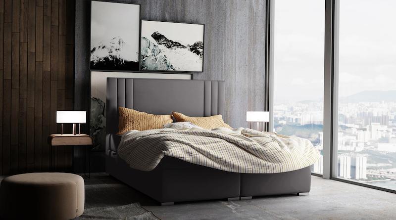 Dormitorio con cama continental