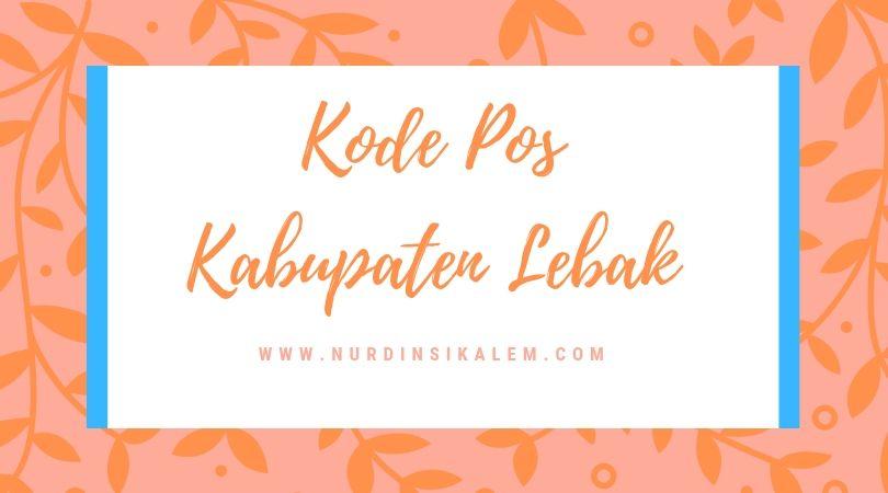 Kode Pos Kabupaten Lebak